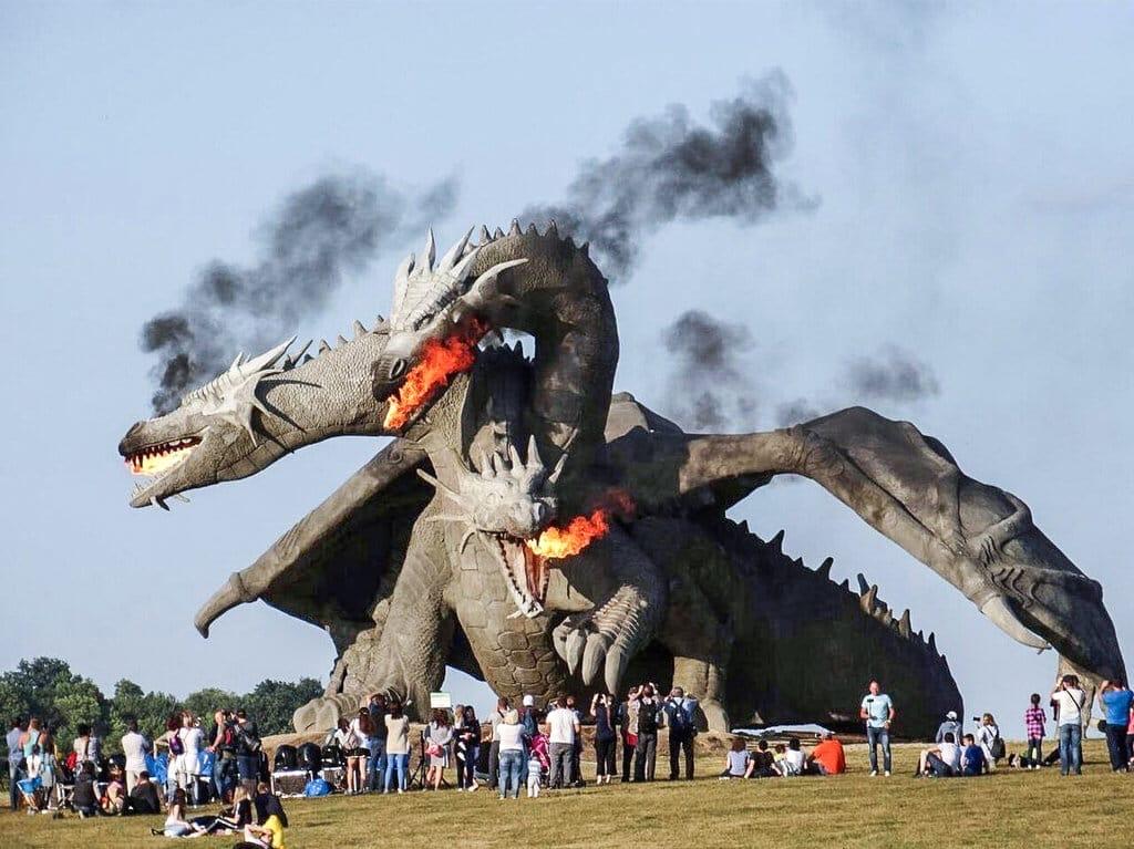 В Липецкой области воздвигли Змея Горыныча Змей Горыныч,Кудыкина гора,Липецк