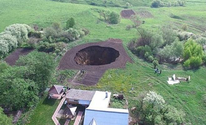 Провал грунта в деревни открыл тайны прошлого