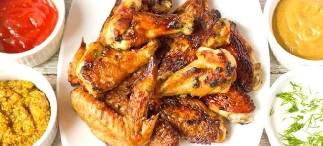 Куриные крылья в пиве в духовке