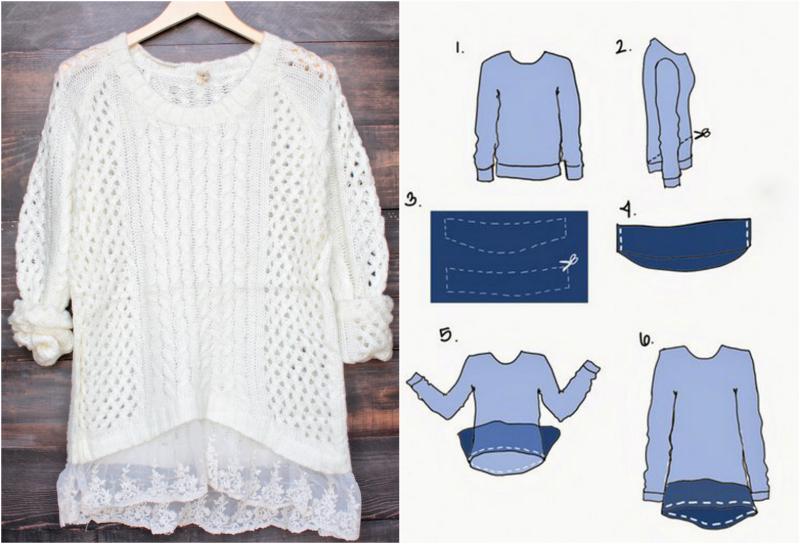 Как умело переделать свитер