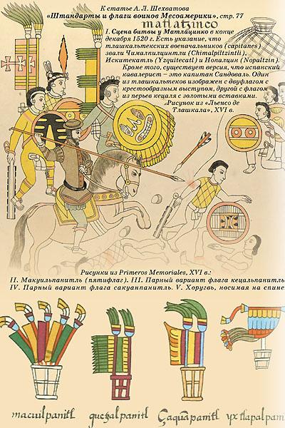 Штандарты и флаги воинов Месоамерики