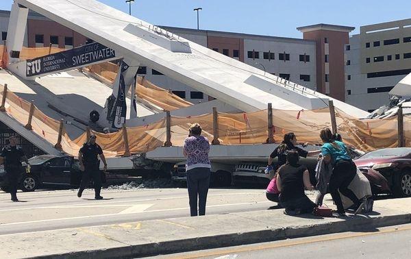 ВМайами врезультате обрушения моста погибли отшести додесяти человек
