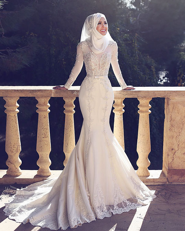 Ослепительно красивые невесты в хиджабах лучшее