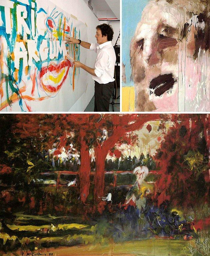 Пол Маккартни живопись, звезды, знаменитости, кино, многогранный талант, неожиданное увлечение, художники, эстрада