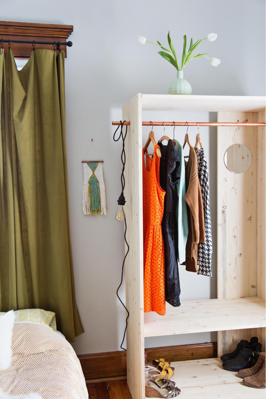 Как самому сделать шкаф для одежды за 1 вечер для дома и дачи,мастер-класс