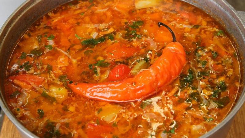 Очень вкусный суп из фарша и капусты! Обязательно попробуйте