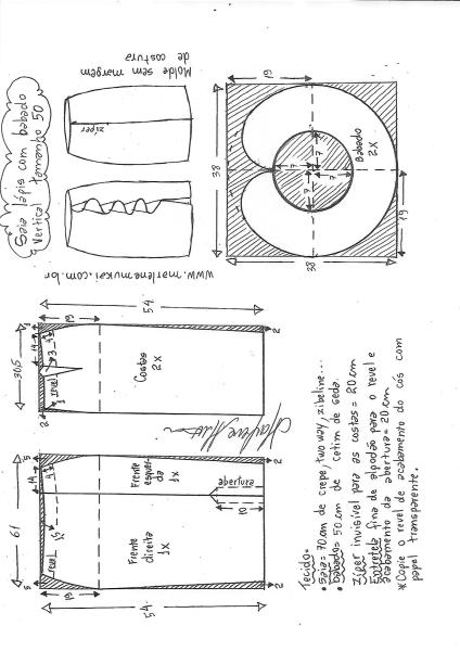 Выкройка юбки карандаш с воланами одежда