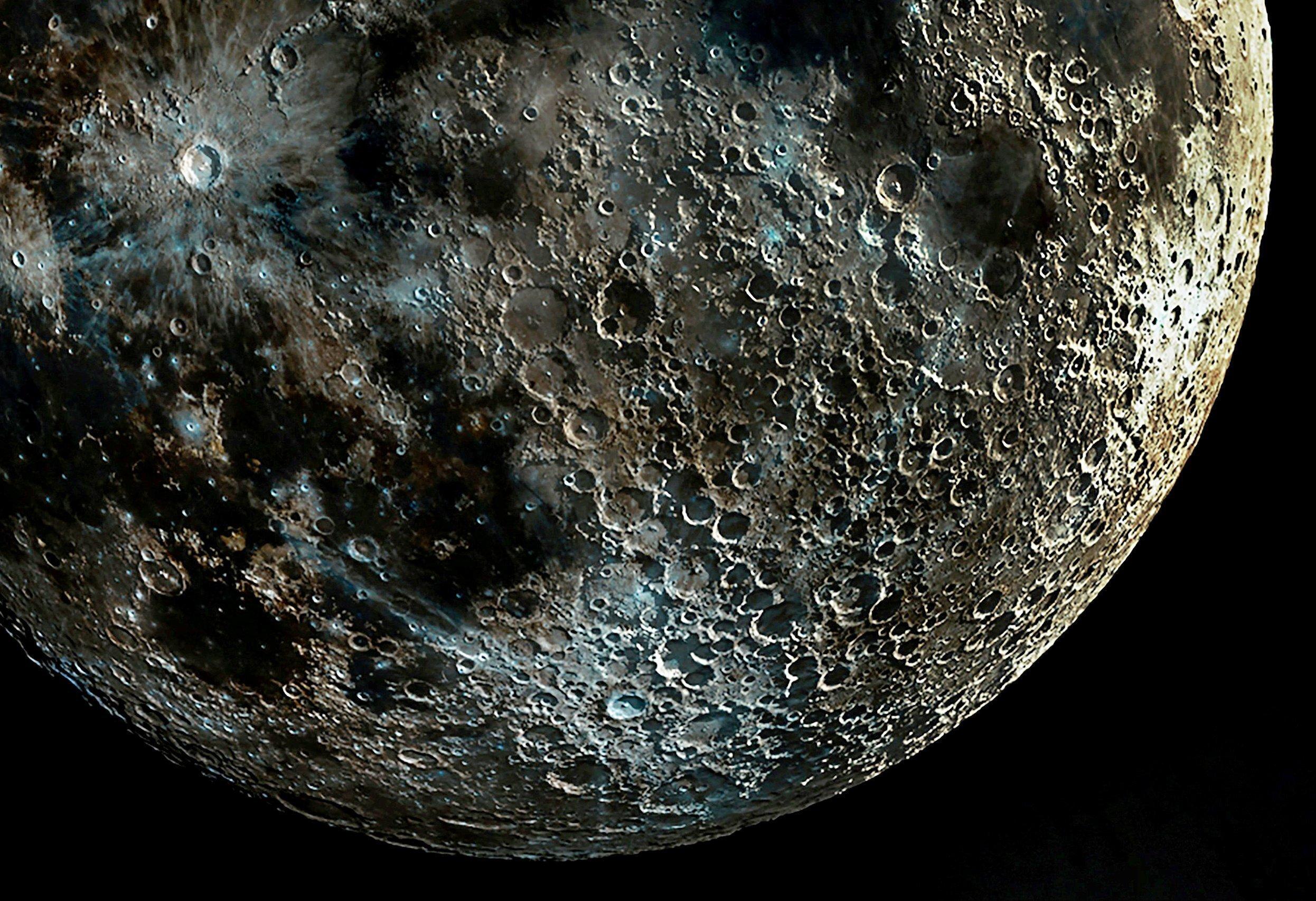 Самый чёткий в мире снимок лунных кратеров