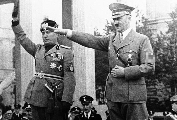 Муссолини и Гитлер