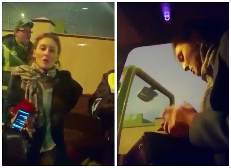 Сотрудница МВД устроила истерику с дракой из-за эвакуированной машины