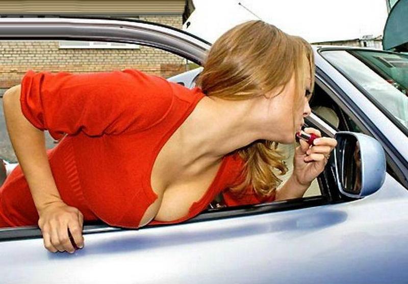 Приколы девушками за рулем видео