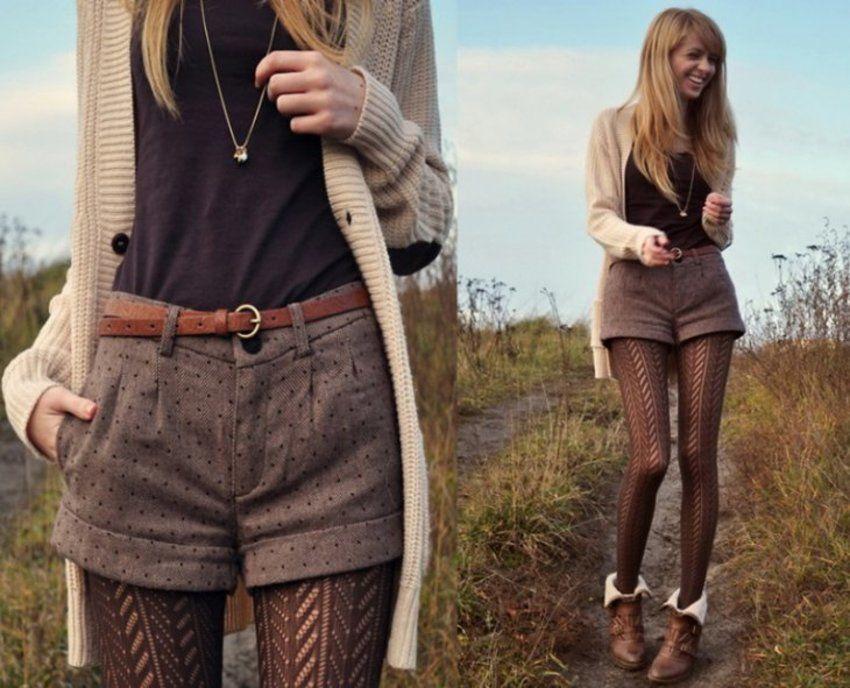 17 способов носить шорты в холодное время года, фото № 3