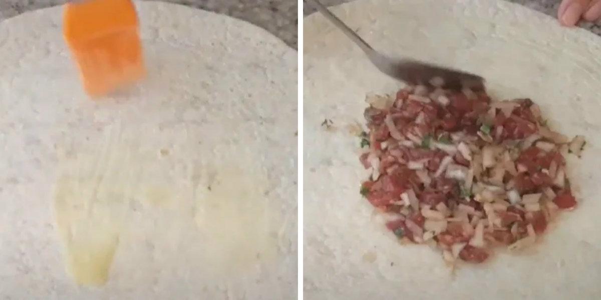 Самса из лаваша с мясом выпечка,закуски