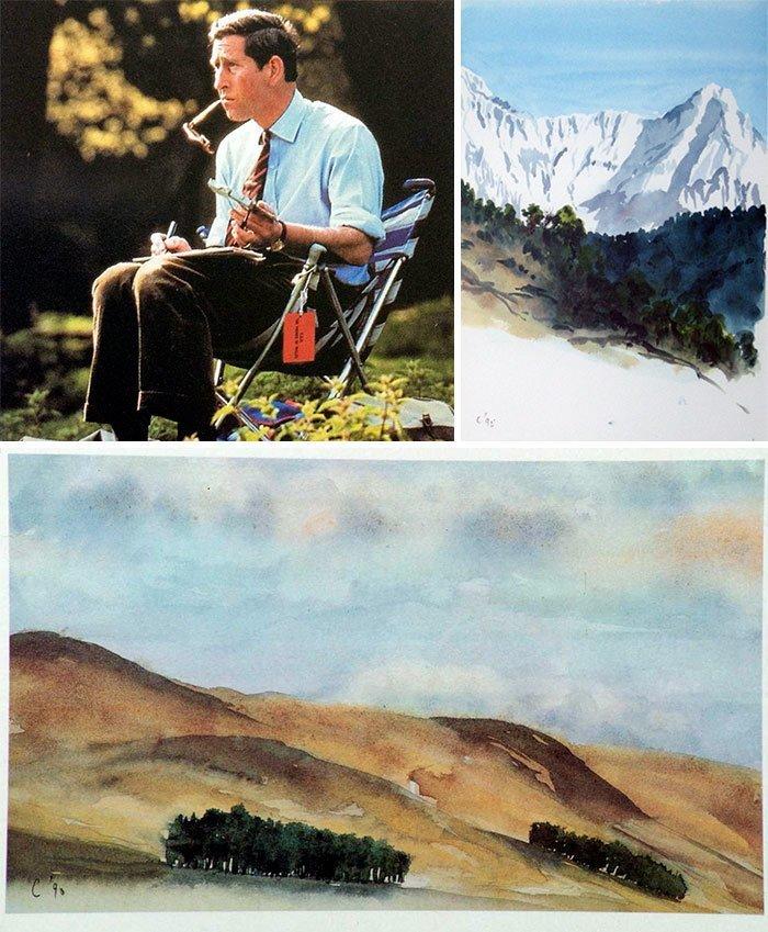 Принц Чарльз живопись, звезды, знаменитости, кино, многогранный талант, неожиданное увлечение, художники, эстрада