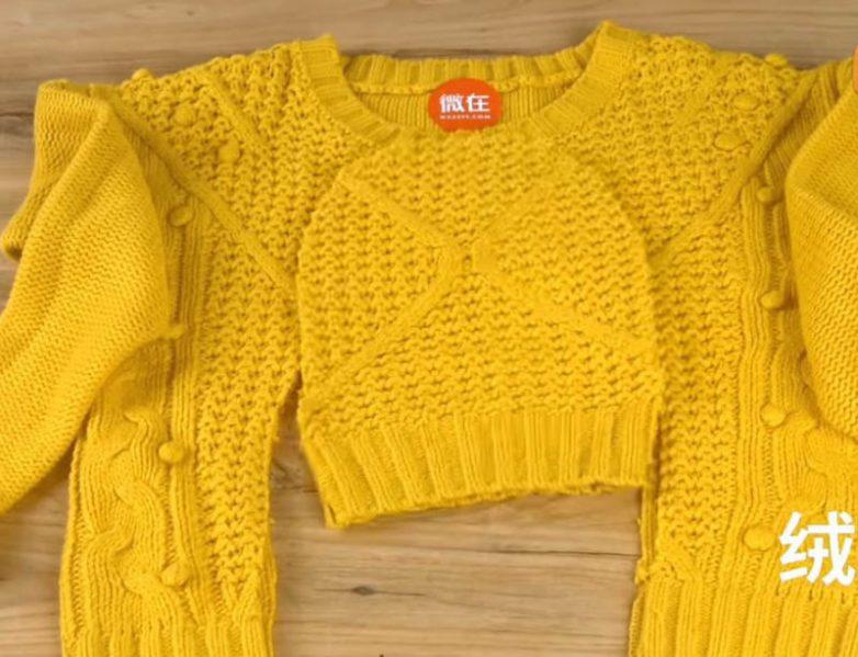 5 отличных идей переделки старого свитера