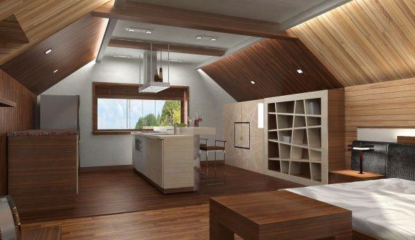 Вагонка в дизайне потолка