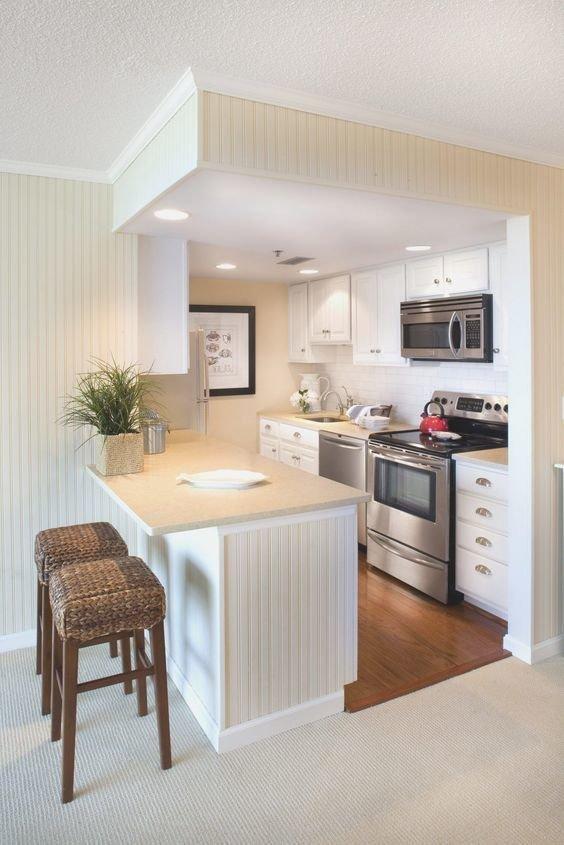 3. Современную барную стойку давно усовершенствовали: теперь ее применяют и в качестве рабочей зоны дизайн, идеи дизайна, интерьер, кухня, маленькая кухня