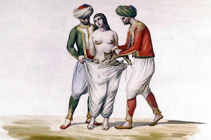 Наказания для женщин за супружескую измену в прошлые времена