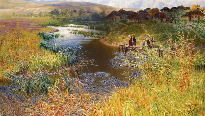 Автор картины – русский художник-пейзажист Сергеев Николай Александрович.