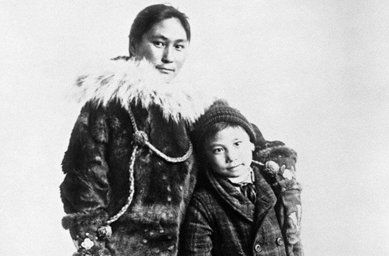 Ада и ее сын Беннетт Ада Блэкджек, арктика, интересно, история, познавательно, факты