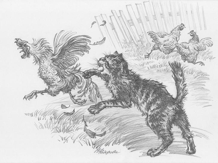 Картинки по рассказу паустовского кот ворюга