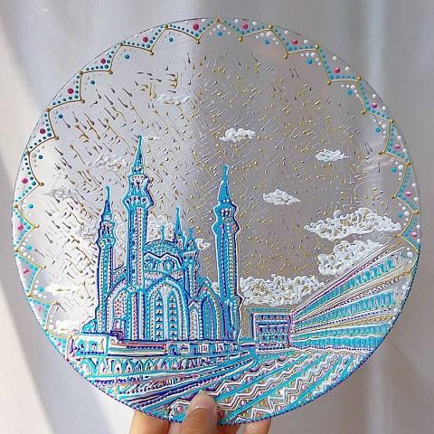 Искусство точечного нанесения краски на посуду. Какая красота!