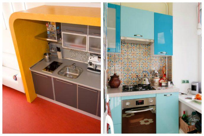 45 отличных идей планировки маленьких кухонь