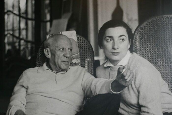 Пабло Пикассо и Жаклин Рок. \ Фото: google.com.