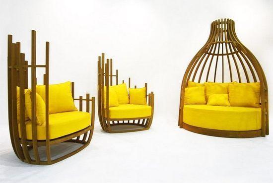 Яркий предмет мебели от дизайнера