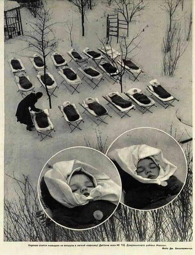 15. Дети во время дневного сна в московских яслях, 1958 год винтаж, интересно, исторические кадры, исторические фото, история, ретро фото, старые фото, фото