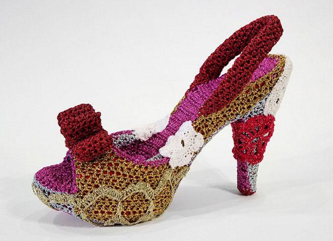 Модная вязаная обувь от нью-йоркской мастерицы