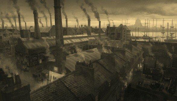 В холодное время черным угольным дымом чадила каждая труба