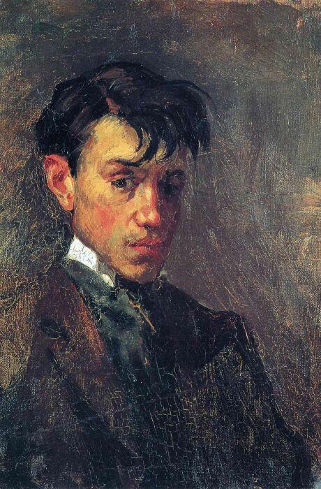 Пабло Пикассо: Автопортрет, 1896 год. \ Фото: pinterest.com.