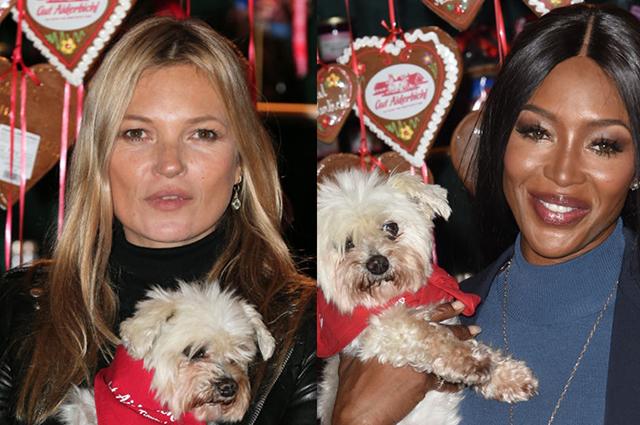 Праздник к нам приходит: Кейт Мосс и Наоми Кэмпбелл на открытии благотворительной рождественской ярмарки