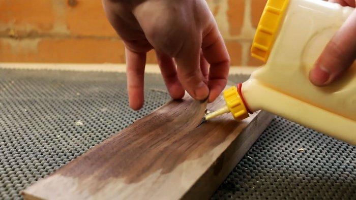 Как скрытно установить резьбовой крепеж в древесину