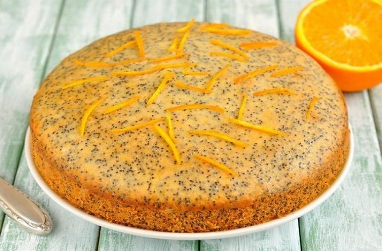 Апельсиновый пирог с маком — интересное приготовление
