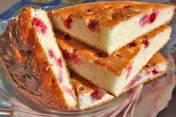 Клюквенный кекс - быстрая и вкусная выпечка для всей семьи!