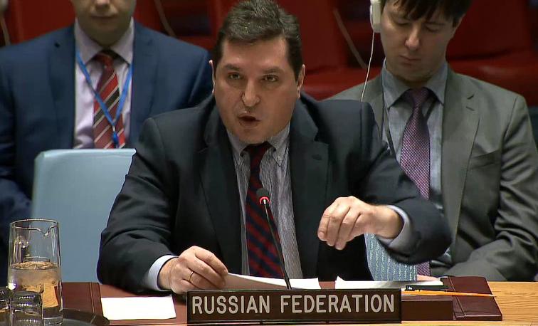 Постпред РФ в ООН Сафронков …