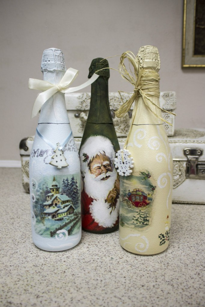 часто декупаж новогодних бутылок шампанского фото сообщению федеральной службы