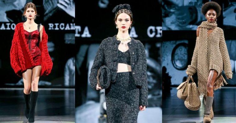 Как носить вязаные вещи стильно: показывает Dolce & Gabbana