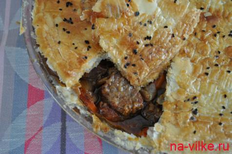 Мясо в тёмном пиве или Gosser Pie