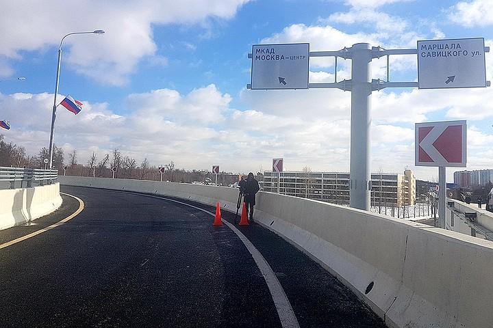 В Щербинке открыли разворотную эстакаду через Варшавское шоссе