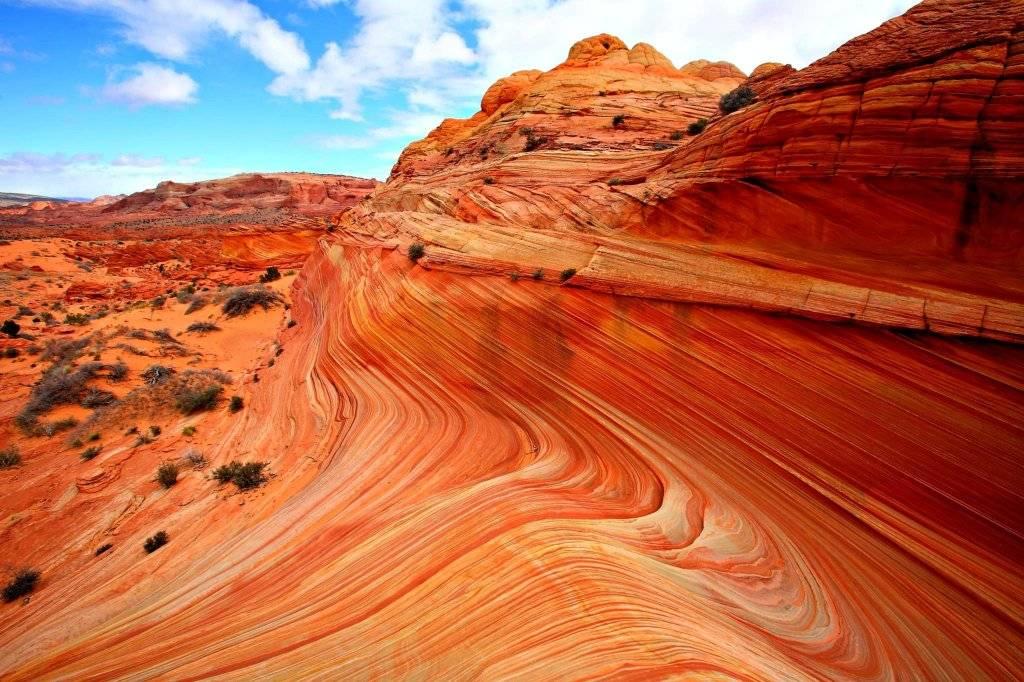 Песчаные дюны Wave США. Могущество и величие природы. Самые загадочные и аномальные геологические образования на планете. Фото с сайта NewPix.ru