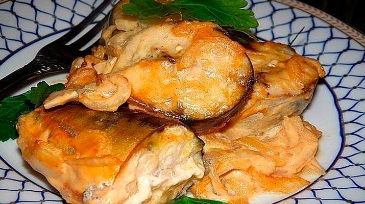 Скумбрия, запеченная в горчи…