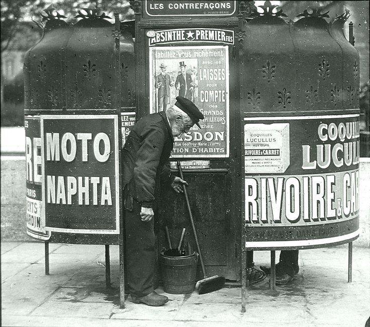 Общественный писсуар в Париже Весь Мир в объективе, ретро, старые фото