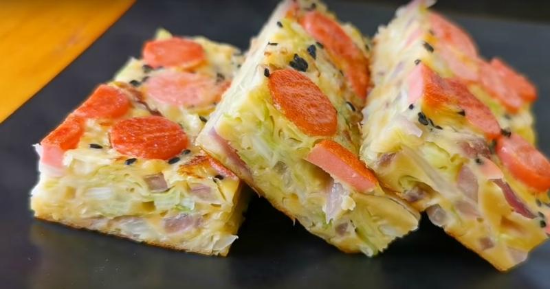 Капустная пицца: простое блюдо из полезных продуктов