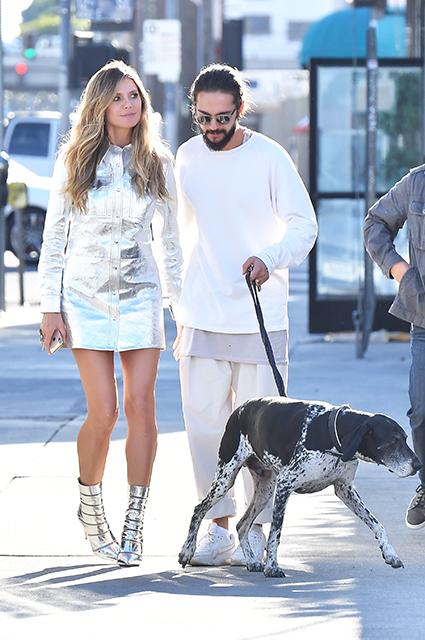 Мини-платье, поцелуи, собака: Хайди Клум и Том Каулитц показали страсть на съемках телешоу звездные пары, хайди клум, том каулитц