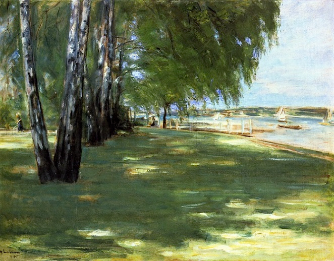 The Artist's Garden in Wannsee - Birch Trees by the Lake. 1918 (662x518, 412Kb)