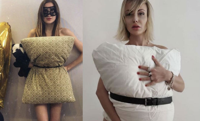 Девушки стали прикрываться подушками вместо платьев и показывать себя людям quarantinepillowchallenge,Культура