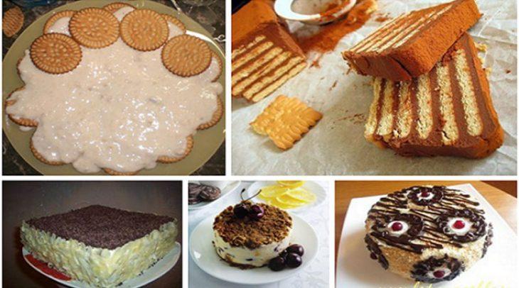 Самые вкусные домашние торты из печенья без выпечки